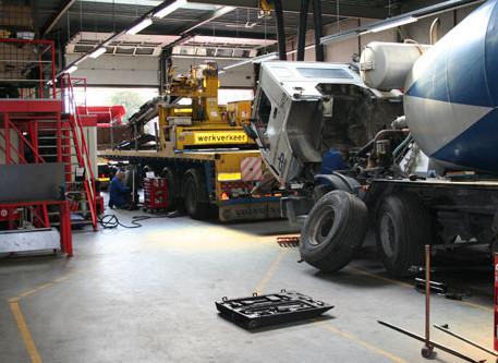 truck werkplaats, garage, trailerservice